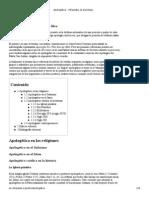 Apologética - Wikipedia, La Enciclopedia Libre