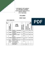 MSW syllabus