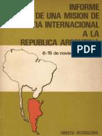 (1976) Informe de Una Mision de Amnistia Interna - Amnistia Internacional