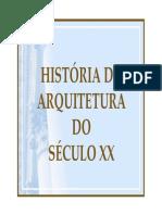 Hist. Da Arquitetura Do Sec XX