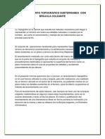 LEVANTAMIENTO TOPOGRÁFICO SUBTERRANEO  CON BRÚJULA COLGANTE.docx