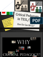 Critical Pedagogy in TESL/TEFL
