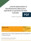 Apendicectomia Laparoscópica vs Apendicectomia Abierta ARTICULO