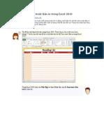 Cách hiển thị Xem trước Bản in trong Excel 2010