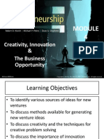 creativity, Innovation & the Business Opportunity