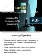 assessing the Entrepreneurship Environment