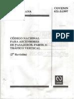 621-3-97 Código Nacional Para Ascensores de Pasajeros. Parte 3. T Ráfico Vertical.pdtráfico Vertical
