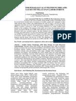 Analisis Faktor Penggunaan APD