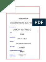 As-built Jardin Botanico 4G