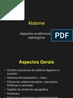 Abdome - Aspectos Anatômicos e Radiológicos