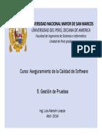 GestionCalidad - Pruebas DeSW