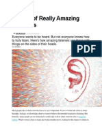 5 Skills of Really Amazing Listeners