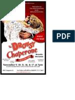 Drowsy Chaperone Full Playbill