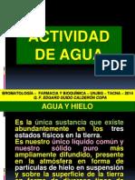 Actividad de Agua Nº 03. 2014