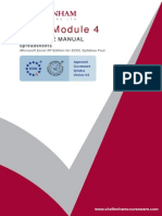 Module 4 Microsoft Excel XP Edition (Spreadsheets)