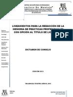 Estructura Dictamen Por Consejo CUV CES 2013