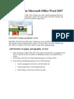 Add Borders in Microsoft Office Word 2007