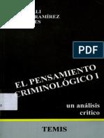 El Pensamiento Criminologico - Tomo i - Bergalli r Bustos j y Miralles t.