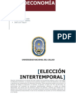 ELECCION INTERTEMPORAL