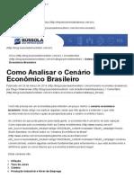 Como Analisar o Cenário Econômico Brasileiro - Blog de Investimentos