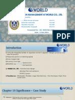 Supply Chain Management at World Co Ppt Slides