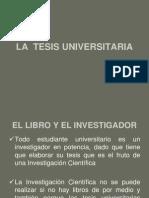 La Tesis Universitaria