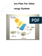 Business Plan for Solar Energy System