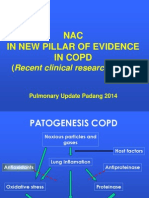NAC in NEW PILLAR of EVIDENCE in COPD (Recent Clinical Research 2013 ) Pulmonary Update Padang 20