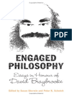 Susan Sherwin, Peter Schotch Engaged Philosophy Essays in Honour of David Braybrooke 2007