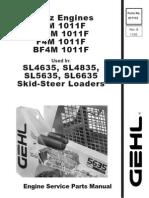 SL4635 SL4835 SL5635 SL6635 Skid Loader Deutz Engine Parts Manual 917115B