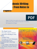 The Academic Writing Process-From Notes to Papers