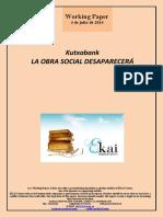 Kutxabank. LA OBRA SOCIAL DESAPARECERA
