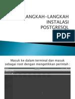 Langkah-langkah Instalasi Postgres