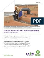 Irrigation Schemes and Weather Extremes