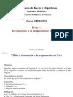 Estructuras de Datos y Algoritmos Tema 1