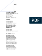 Lyrics to Church Hymns