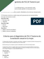 Criterios Para El Diagnóstico de F52