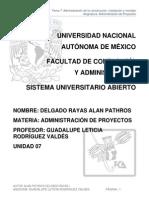 Unidad 7 Administración de La Construcción, Instalación y Montaje