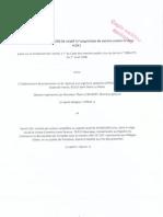 Marché public No EPRUS-09-36 relatif à l'aquisition de vaccins contre le H1N1