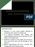 Indian land Revenue Terminology