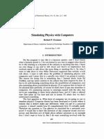 Feynman - Simulating physics with computers