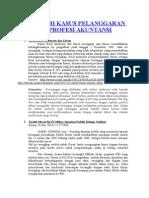 Contoh Kasus Pelanggaran Etika Profesi Akuntansi