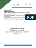 Manuel de Formation POSDRU