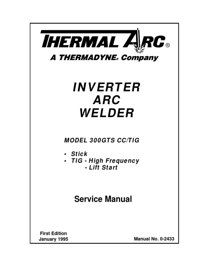 DocLib_4966_300 GTS Inverter Arc Welder Service Manual (0-2433) | Welding |  Electrical Connector