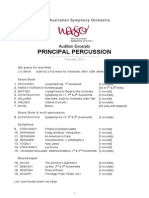 WASO Principal Percussion Excerpts February 2013 Amended
