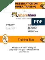 Finalpresentatio.,l,lnonsharekhan 090827043038 Phpapp02 091021010757 Phpapp01
