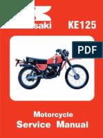 Kawasaki Service Manual - KE125