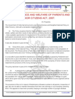 Maintenance and Welfare of Parents and Senior Citizens Act