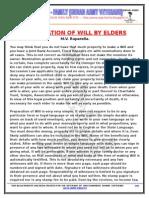 Preparation of Will by Elders