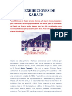 Las Exhibiciones de Karate Full